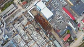 Ptaka oka widok przemysłu teren Magazyny i sklepów budynki z góry zbiory