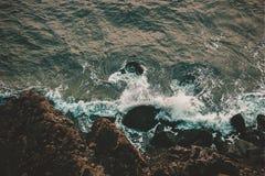 Ptaka oka widok przy wierzchołkiem morze zdjęcie royalty free