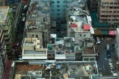 Ptaka oka widok W centrum Kowloon, Hong Kong Zdjęcia Royalty Free