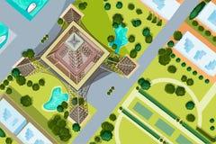 Ptaka oka widok wieża eifla Obrazy Royalty Free