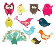 ptaki śliczni royalty ilustracja