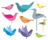 ptaki dekoracyjni royalty ilustracja