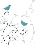 ptaki dwa Zdjęcia Royalty Free