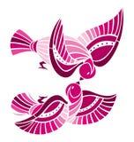 ptaki figlarnie Zdjęcia Royalty Free