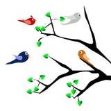 Ptaki i wiosna Zdjęcia Royalty Free