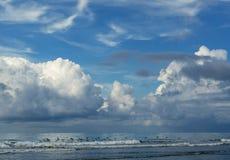 Ptaki lata nad ocean powierzchnią - Costa Rica Obraz Stock