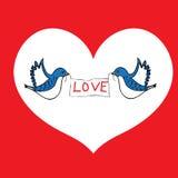 Ptaki miłość Zdjęcia Stock