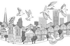 Ptaki nad San Fransisco Obrazy Royalty Free