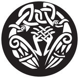 ptaki projektują supłającego Viking Obraz Royalty Free