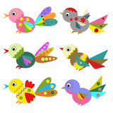 Ptaki, set. royalty ilustracja