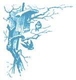 ptaki target1822_1_ wektorową zima ilustracji