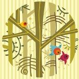 ptaki target954_1_ drzewa Zdjęcia Stock