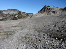 Ptarmigan Ridge Trail in fall Stock Photos