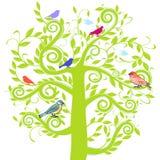 ptasi drzewo ilustracji