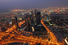 ptasi Dubai oka s widok obraz stock