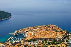 ptasi Dubrovnik oka s widok Obraz Royalty Free