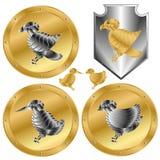 Ptasi emblemat ilustracja wektor