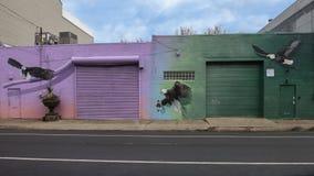 Ptasi karmy malowidło ścienne 2018 Meg Saligman studiiem, Filadelfia Obraz Stock