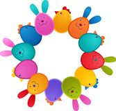 ptasi królika karty Easter powitanie Zdjęcia Royalty Free