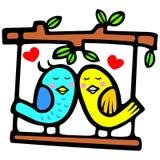 ptasi śliczny valentine ilustracji
