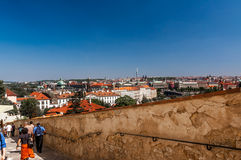 ptasi oka Prague s widok Obrazy Royalty Free