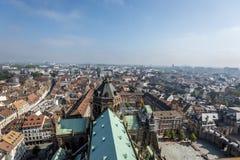 Ptasi ` oka widok miasto Strasburg Obraz Stock