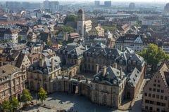 Ptasi ` oka widok miasto Strasburg Zdjęcia Stock