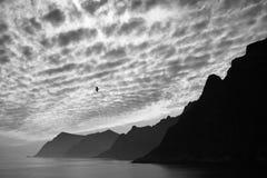 Ptasi passig obok w pięknym norwegu krajobrazie Obrazy Stock
