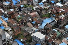 Ptasi ` s oka widok nowożytny metropole w prowincja guangdong w Chiny stary część kantonu centrum miasta, nowadays Fotografia Stock