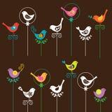 ptasi set ilustracji