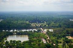 Ptasi widok Angkor Wat Fotografia Stock
