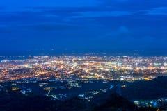 Ptasi widok Cebu miasto Zdjęcie Royalty Free