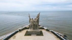 Ptasi widok Lingaojiao wyzwolenia parkï ¼ ŒHainan, Chiny zdjęcie stock