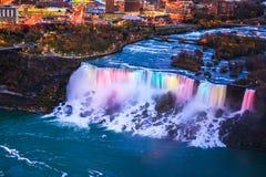 Ptasi widok Niagara spadki Zdjęcia Stock