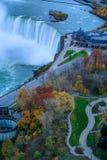 Ptasi widok Niagara spadki Obraz Stock