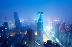 Ptasi widok przy Nanchang Chiny. Zdjęcie Stock