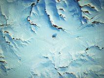 Ptasi widok Urho ducha miasto w zimie Zdjęcia Stock