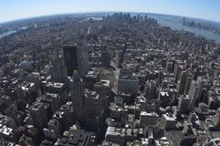 Ptasi widok w centrum Manhattan fotografia royalty free