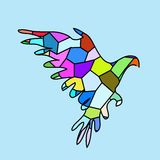 Ptasia błękitna kolor mozaika Zdjęcie Royalty Free