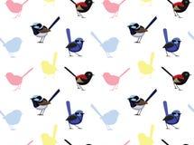Ptasia Czarodziejska strzyżyk tapeta royalty ilustracja