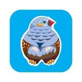 ptasia ikona Zdjęcie Stock