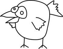 ptasia kreskówka Obraz Royalty Free