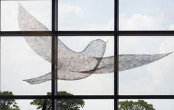Ptasia rzeźba przy Changi lotniskiem międzynarodowym, Terminal 4 Zdjęcie Stock