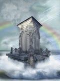 ptasiego fantazi krajobrazu światła magiczny nieba słońca zmierzch obrazy royalty free