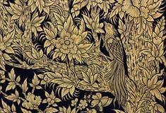 ptasiego farby stylu tajlandzki drzewo Zdjęcia Stock