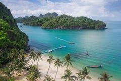 Ptasiego oka widok Denny Tajlandia, Mu Ko Ang paska wyspa obywatel P Obrazy Royalty Free