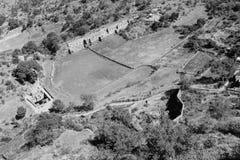 Ptasiego oka widok od Kumbhalgarh Fotografia Stock