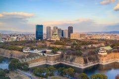 Ptasiego oka widok Osaka kasztel Zdjęcie Stock