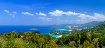 Ptasiego oka widok Phuket panorama, Tajlandia Zdjęcia Stock