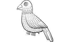 3 ptasiej kreskówki ilustracyjny serii wektor Zdjęcia Stock